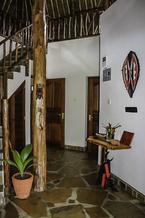 Eingangsdiele - Die Einrichtung ist im typischen Swahili Style gehalten und verströmt eine Gemütlichkeit gepaart mit afrikanischem Flair Villa-Kuishi - Diani Beach - Kenia - Ihr exklusives Ferienhaus unter der Sonne Ostafrikas