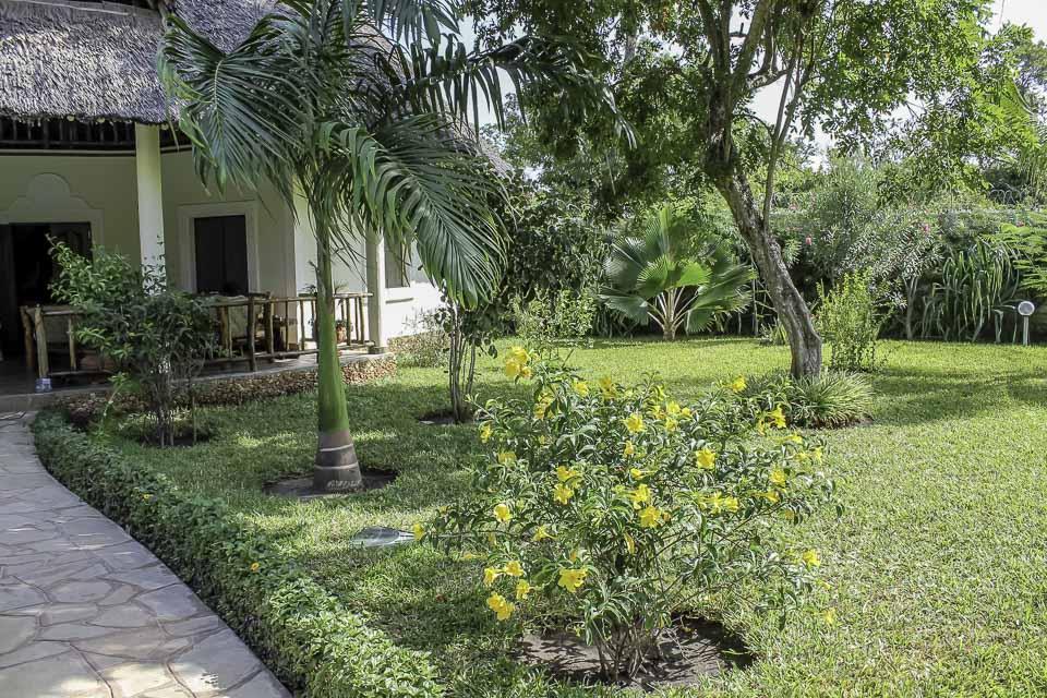 Blick über den tropischen Garten - Villa-Kuishi - Diani Beach - Kenia - Ihr exklusives Ferienhaus unter der Sonne Ostafrikas