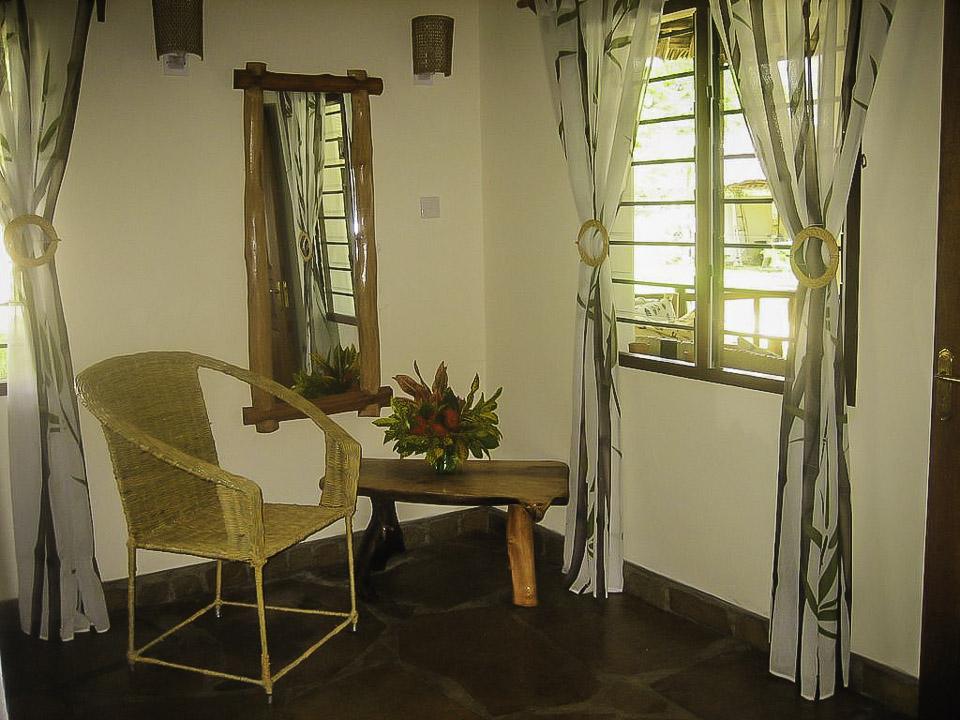 Sitzecke im Schlafzimmer - Villa-Kuishi - Diani Beach - Kenia - Ihr exklusives Ferienhaus unter der Sonne Ostafrikas